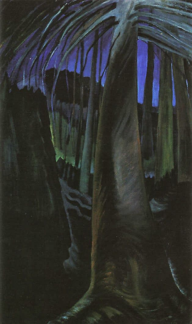 Old Tree at Dusk (oil on canvas) 1936, Emily Carr