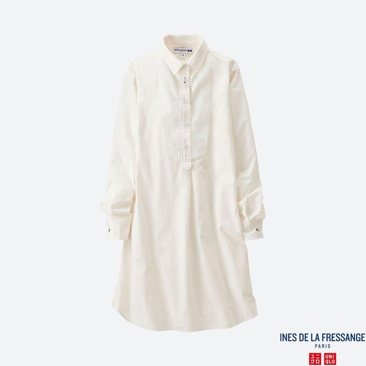 WOMEN IDLF Cotton Poplin Long Sleeve Tunic