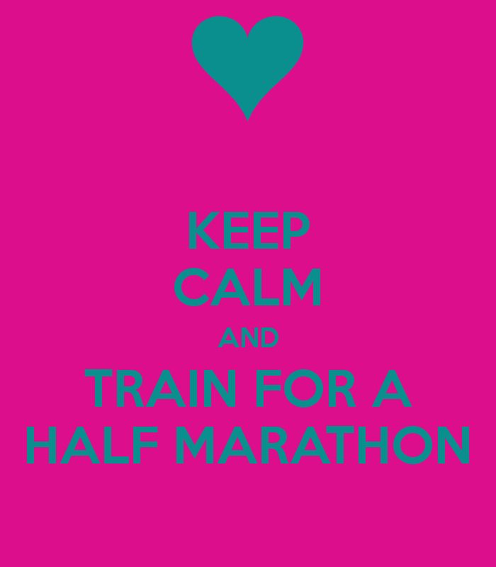 Keep calm and train for a half marathon. QC half for Miracle Miles!