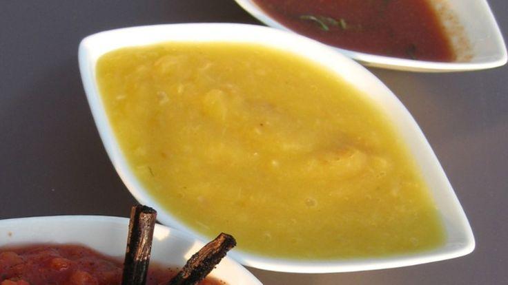 Mango- og chili-mojo er en grillsaus med god sterk smak.