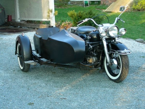 Awesome 66 Harley-Davidson With Sidecar For Sale On