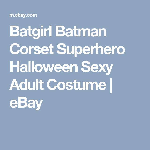 Batgirl Batman Corset Superhero Halloween Sexy Adult Costume  | eBay