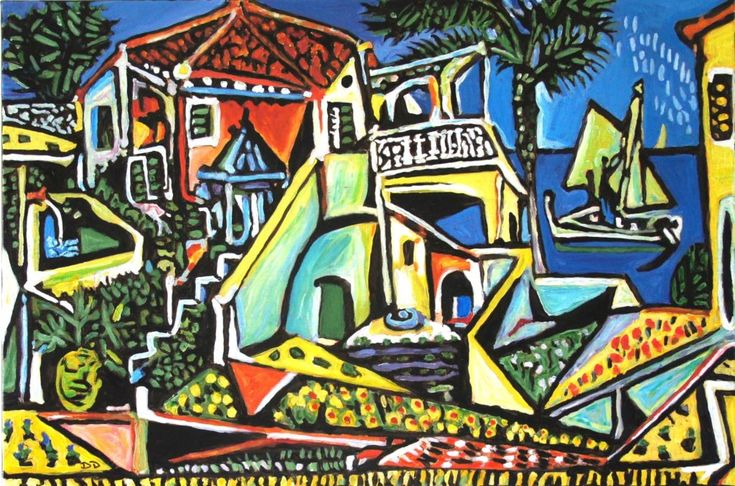 Mediterranean Landscape after Picasso