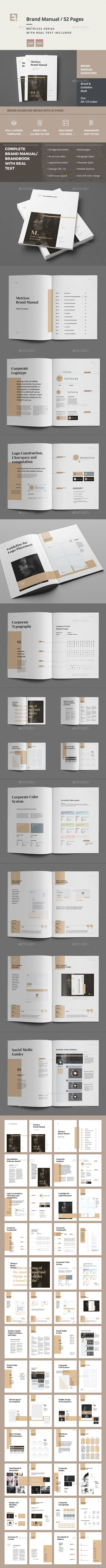 Brand Manual Template InDesign INDD. Download here: https://graphicriver.net/item/brand-manual/17046162?ref=ksioks