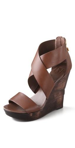 Diane von Furstenberg Opal Crisscross Wedge Sandals | SHOPBOP