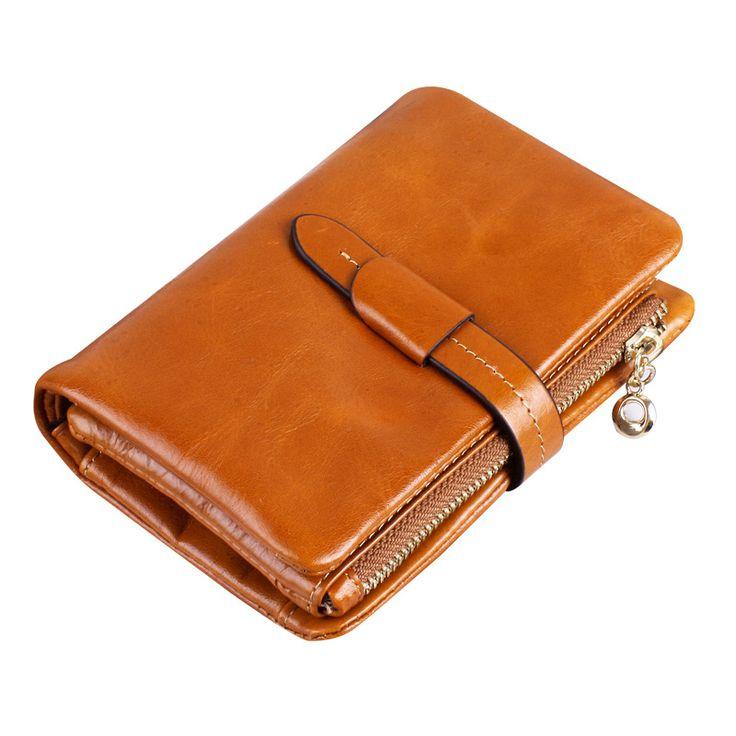 Genuine Leather Women Three-fold Wallet //Price: $39.98 & FREE Shipping // #handbag #awesome #bagsdesigns