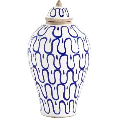 Give your home decor more style by adding this Eclectic Ceramic Table Vase. This is a versatile accessory that will complement any living room, bedroom, dining room or office.