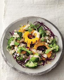 Steamed Broccoli and Squash with Tahini Sauce - you can use any kind of squash and the tahini sauce is amazing on lots of salads!