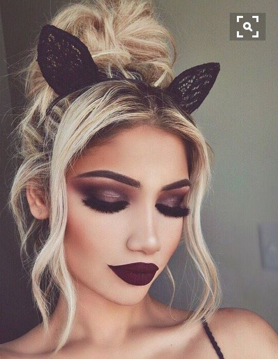 cute fall hair, makeup, and nails #like #cute #fall #follow
