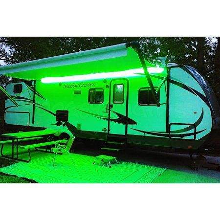 Boogey Lights Hi-Intensity LED Awning Light for RVs, Motorhomes and Campers,  Multi-Color RGB LEDs on Black PCB, Wireless Bluetooth Smartphone Controller, 12vdc - Walmart.com