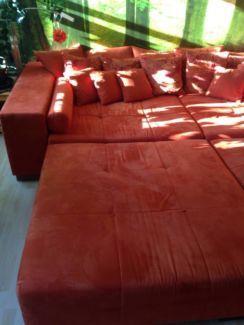 Gut Erhaltenes Big Sofa Terrakotta In Berlin