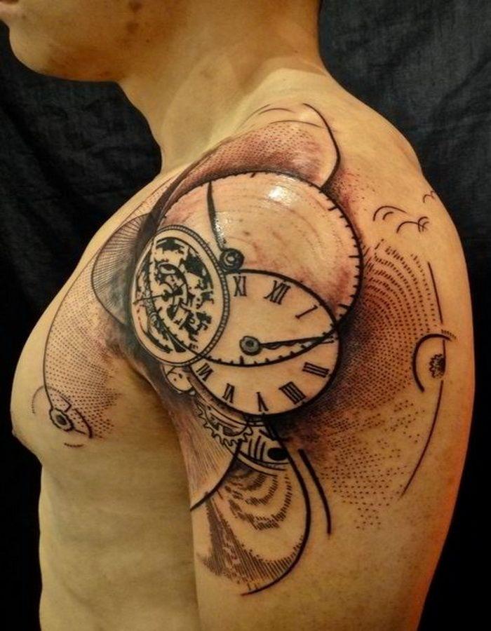 Cool Tattoo Design Ideas Abstract Clock Tattoo Design Tattoos Pinterest Clock Tattoo