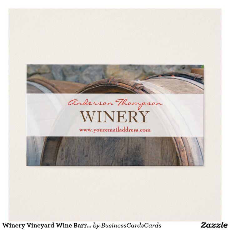Winery Vineyard Wine Barrels Making Business Card wine,winery,vineyard,maker,bottle,rack,grunge,professional,business,vine