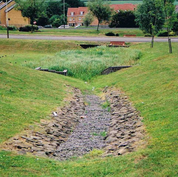 43 best images about subdivision bioswales on pinterest for Stormwater pond design