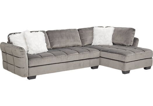 Largo Drive Gray 2 Pc Sectional Sectional Living Room