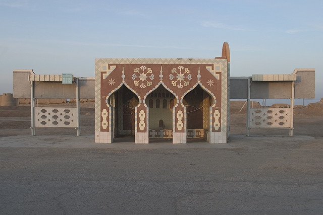 Bus Stop, Merv, Turkmenistan