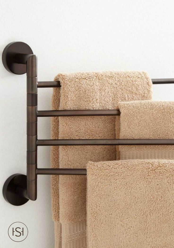 With 4 swinging arms, this towel rack adds more storage to your bathroom without sacrificing much-prized wall space. This bath accessory keeps your towels and linens dry and neatly organized.