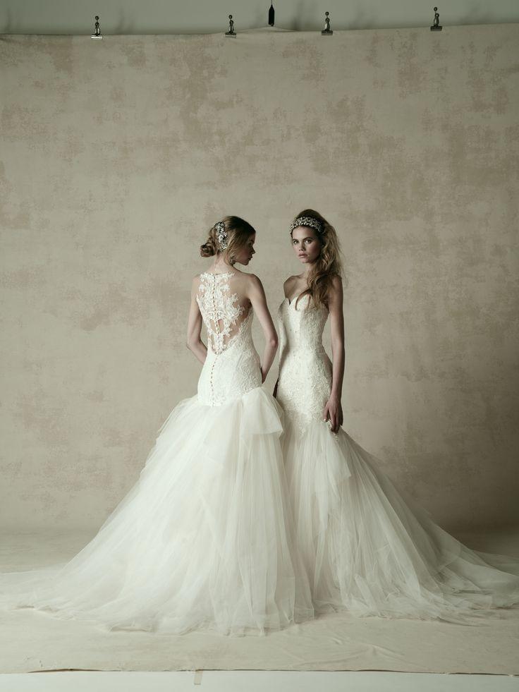 wedding dress ウエディングドレス KENNETH POOL 左)03-8850 右)03-8846