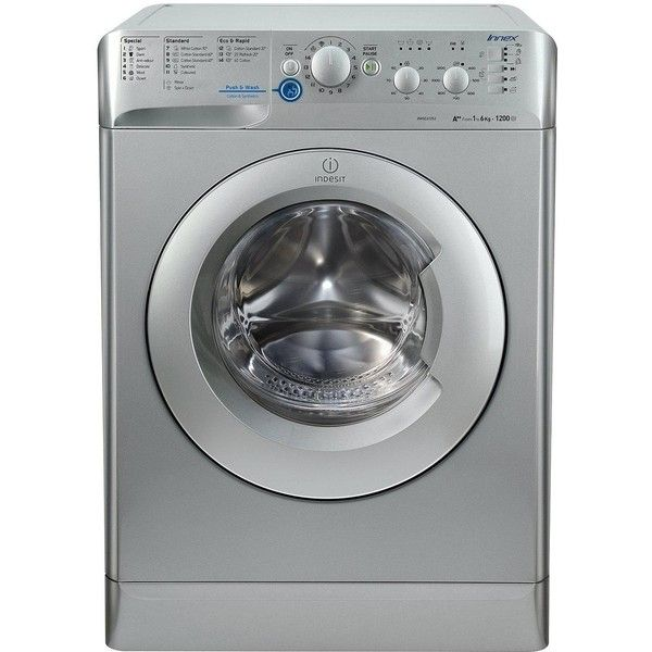 Indesit Innex Xwsc61252S 1200 Spin, 6Kg Load Washing Machine ($300) ❤ liked on Polyvore featuring home, home improvement and cleaning