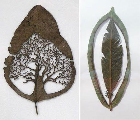 I love these leaves.: Wall Art, Tattoo Ideas, Diy Ideas, Cute Ideas, Leaf Cut, Leaf Art, Leafcut, Christmas Ornaments, Paper Cut Art
