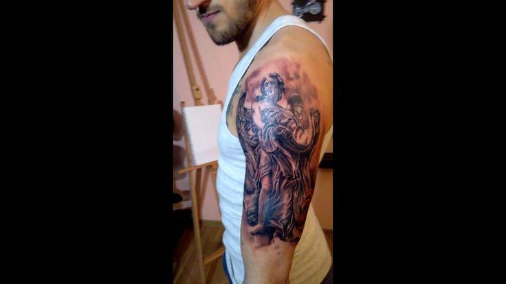 Luka's Tattoo   Tatuaj cu inger si trandafiri! Video tatuaje #32