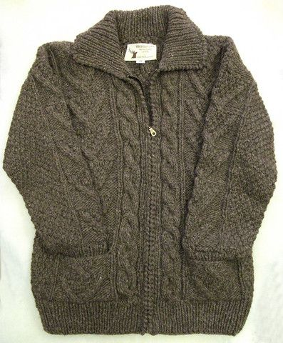 Cable Design Wool Cardigan – Real Wool Shop