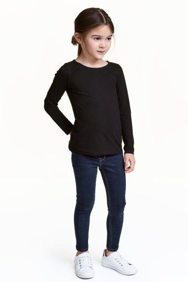 Legging van superstretchdenim - Donker denimblauw - KINDEREN | H&M NL