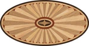 """Hardwood Floor Medallion Kingston Oval 36"""""""