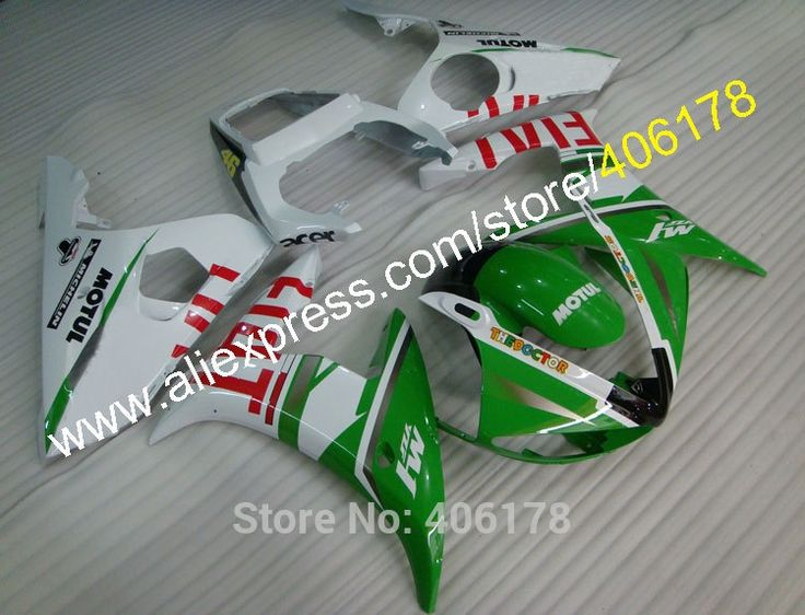 417.05$  Watch now - http://ali0d1.worldwells.pw/go.php?t=2017094510 - Hot Sales,Hot Sale YZF R6 05 YZFR6 YZF 600R6 YZF R6 2005 Green White motorbike for Yamaha Fairing Body Kit (Injection molding) 417.05$