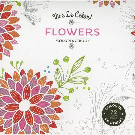 Abrams Books-Vive Le Color! Flowers Coloring Book, Multicolor