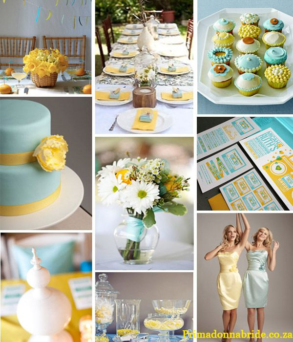 Yellow and blue wedding colors