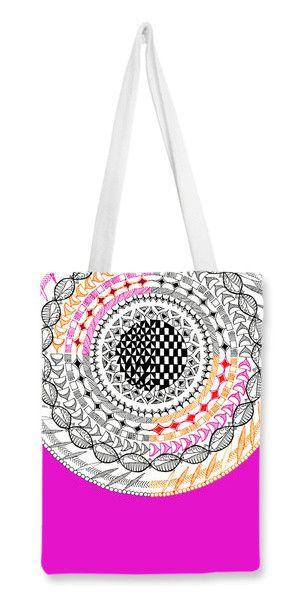 Colourful Geometric Mandala Tote Bags   Artist : Amulya Jayapal   PosterGully