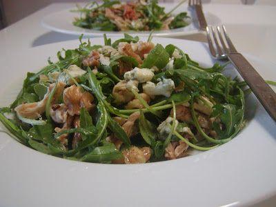 As Minhas Receitas: #2 CISSC - Salada Rucula com Frango, Nozes e Queijo Azul