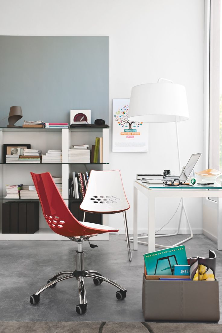 modern home office featuring glossy white. Modern Home Office Featuring Glossy White Jam Features A Twotone Techno Polymer Shell With O