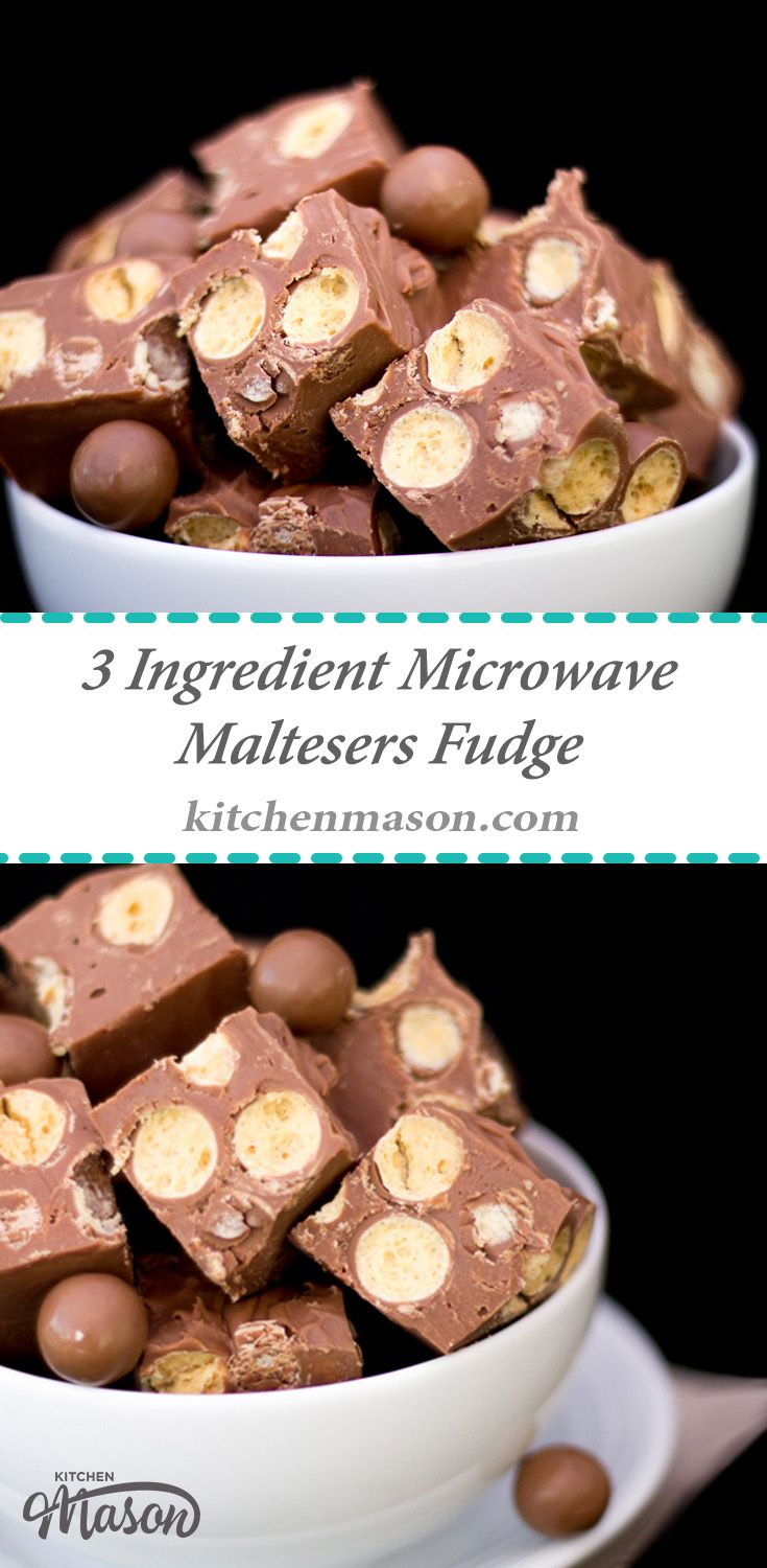 Quick & easy 3 ingredient Microwave Maltesers Fudge.