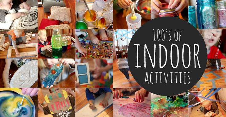 Indoor activities for kids under 5 that are generally easy to do