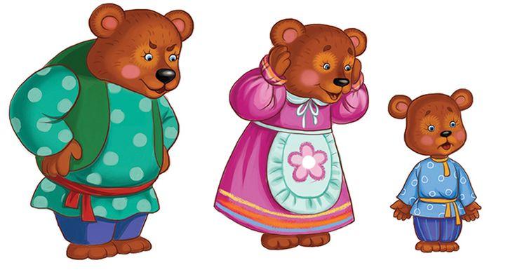 разрезные картинки к сказке три медведя изготовления жилища картона