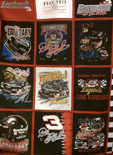 NASCAR T Shirt quilt  www spoolsandbolts com. 43 best Nascar Bedroom images on Pinterest