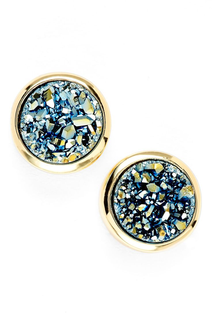 Love The Sugary Shimmer Of These Stud Earrings Thanks To The Drusy Stones