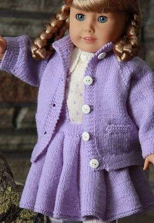 Free Knitting Patterns For American Girl Dolls-Cape