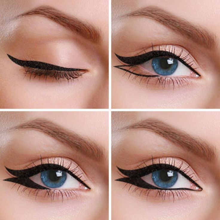 Double Eyeliner Style Feel like a goddess with this beautiful and dramatic double eyeliner style that accentuates your eyes wonderfully.