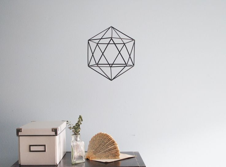 DIY faceted hexagonal ornament- all you need is glue, scissors, and stir sticks!