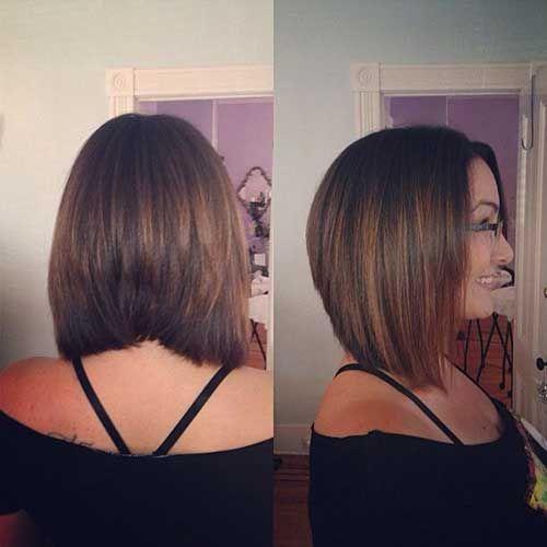 La línea de corte de pelo corto y medio