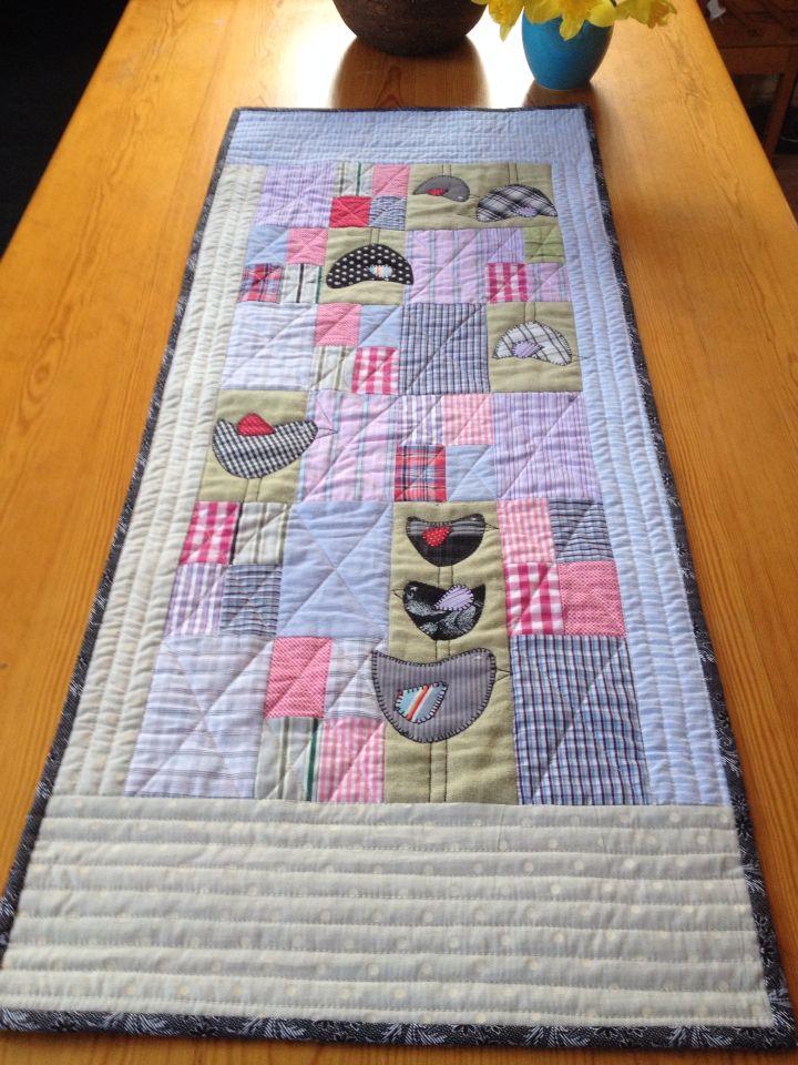 Løper sydd av Skjortestoffer fra MaurTua tekstil. Design AnnAKa