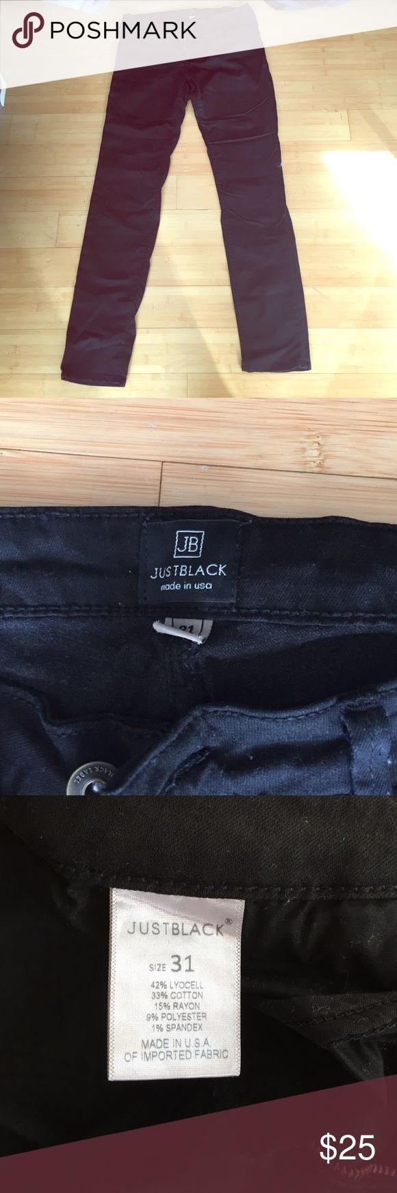 BLACK FRIDAY SALE STITCH FIX Just USA Black Jeans Size 31. SOME LIGHT WEAR ON THE BUTT- see photos. Mid rise, 32 inseam. Great jeans! Just USA  Jeans Skinny