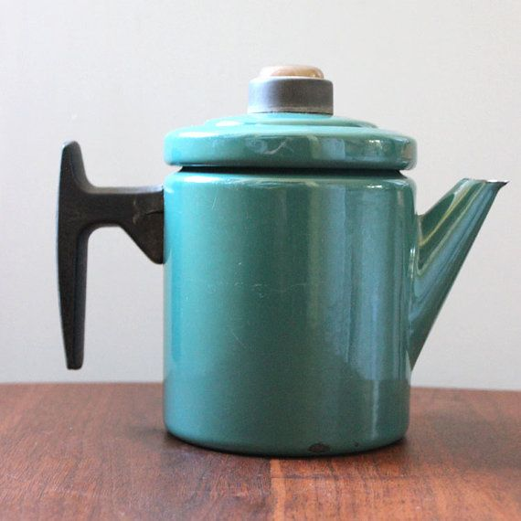 Vintage 1960s Arabia Finel enamel coffee pot and by Kultur on Etsy, $120.00