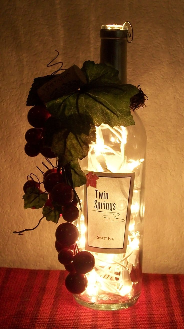 lighted wine bottles wine bottle lamps empty wine bottles recycled wine bottles diy wine bottle wine themed kitchen kitchen themes kitchen ideas - Wine Themed Kitchen Ideas