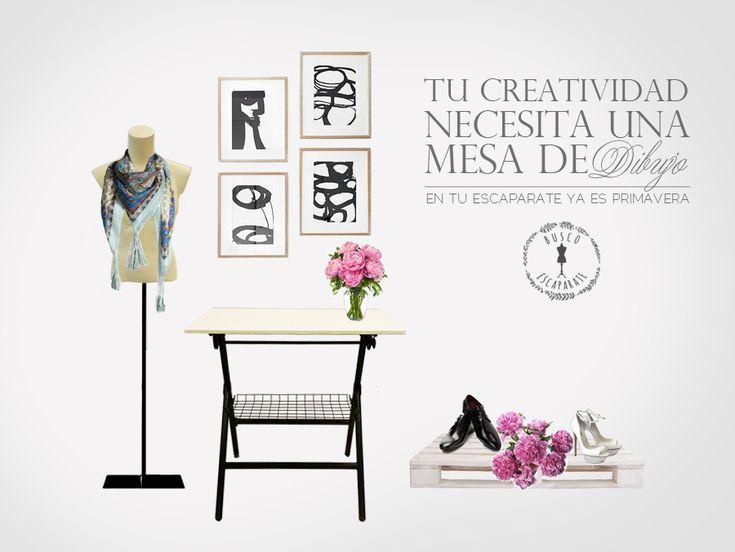 MESA DE DIBUJO  Mobiliario y objetos de segunda mano para decoración de comercios y tiendas. Escaparatismo.  Buscoescaparate.com