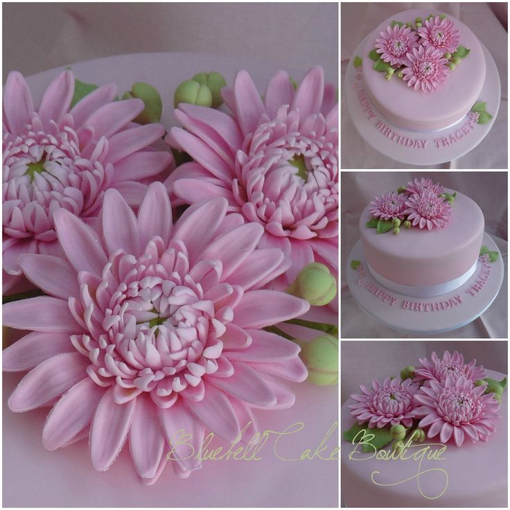 Pink Gerbera Cake