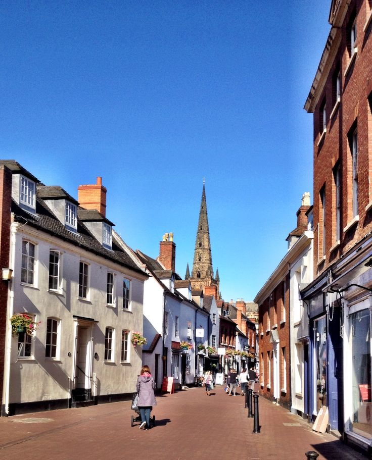 Lichfield city in Staffordshire, Uk